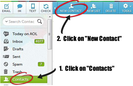 How to whitelist and email address in AOL