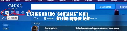 Yahoo manually add contact 1